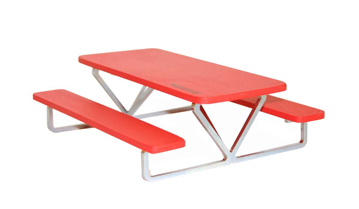 Big Construction for your fingerboard - Big Picnic Table red Big Construction